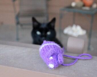 Handknit Catnip Mice