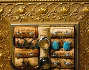 JewelryHolder / Jewelry Organizer / Victorian Frame / OOAK/ Vanity Display/ Napa Valley/ Bridesmaid Gift