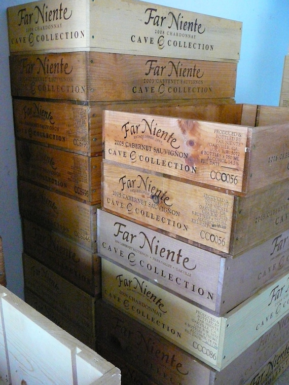Reserved for Judy/Wine Crate / Far Niente / Magazine Holder / Wedding Decor / Napa Valley / Organization