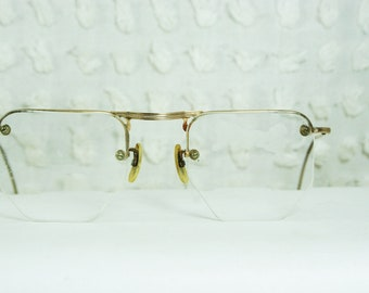 Eyeglasses Invisible Frame : 30s Eyeglasses 1930s Round Glasses Celluloid Covered by ...