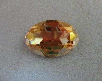 Swarovski Crystal Oval - Brandy   30x22mm