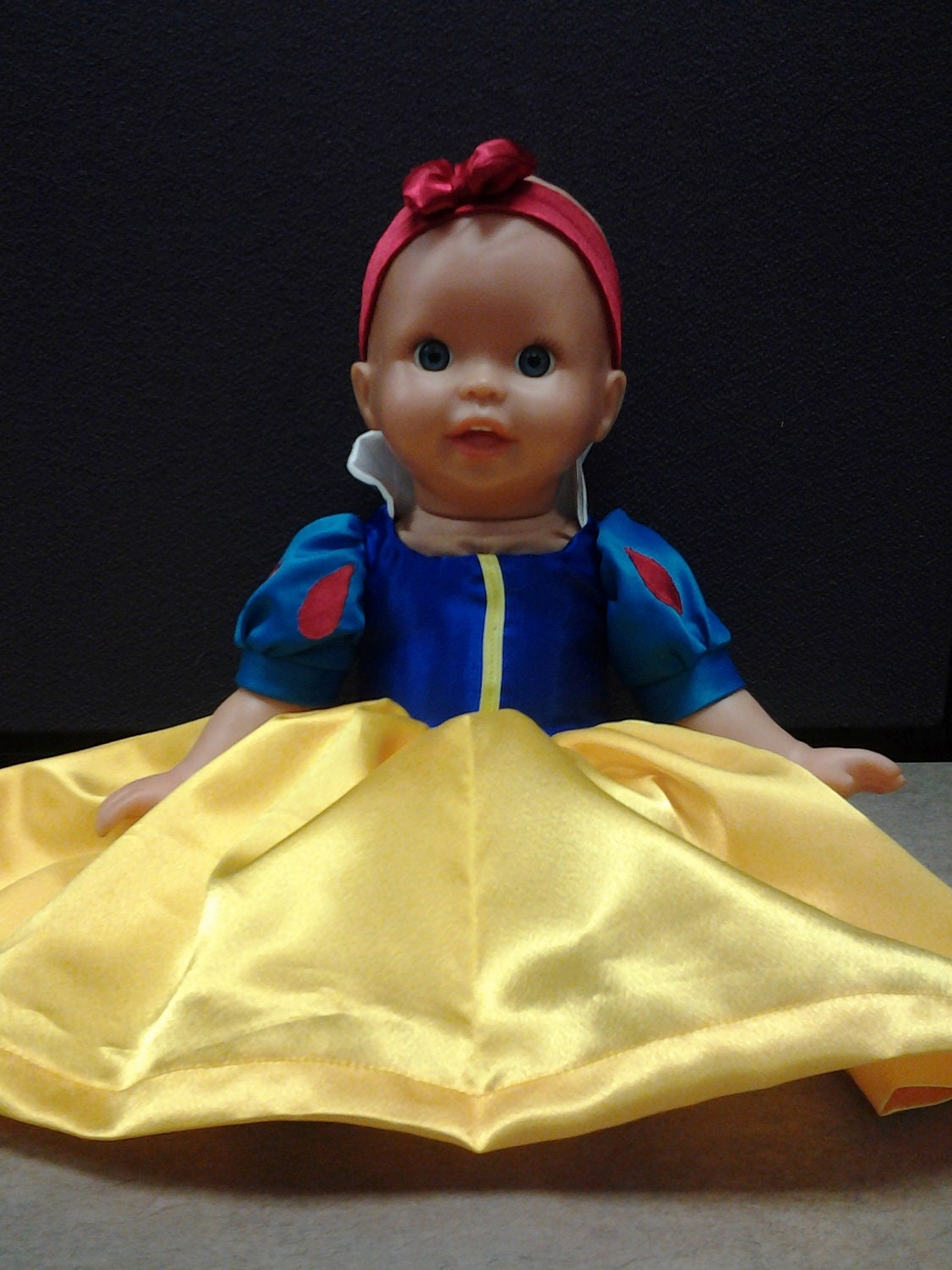 Snow White Dress Bitty Baby Doll by MerryMaryCreations on Etsy