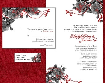 Wedding Invitation Sample Packet - Romantic Red Roses