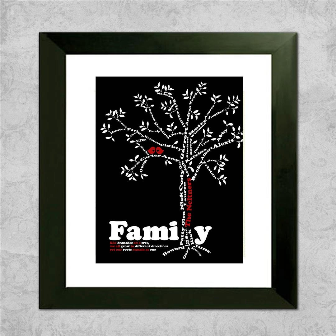 Custom family tree great personalized gift for by for Family tree gifts personalized