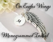 On Eagles Wings Isaiah 40:31 Sterling Silver Hand Stamped Necklace