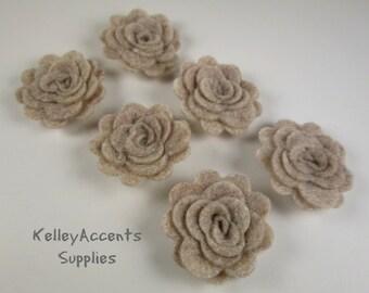 Sandstone Felt Roses - Felt Roses - Felt Posies - Felt 3D Flowers