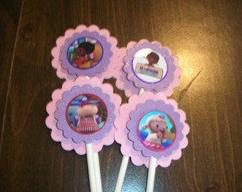 Doc McStuffins Cup Cake Toppers