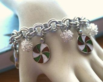 Christmas Candy Charm Bracelet