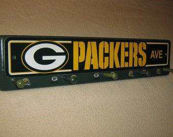 "Green Bay Packer's coat rack ""hangup"" (convo me for your favorite team)"