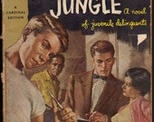 Vintage Pulp Fiction Paperback 1955 The Blackboard Jungle by Evan Hunter