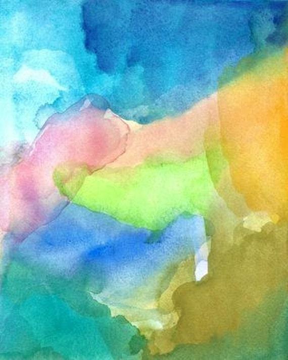 Original Abstract Painting, Watercolor, Wonder