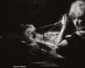Retro Dreamy Portrait Surreal Woman Dark Sensual Photograph Film Noir Femme Fatale 8x8