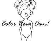 Color Your Own Paper Doll - Printable PDF