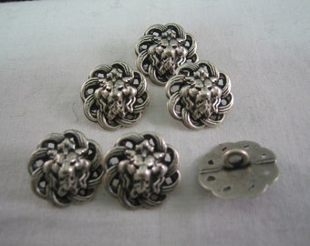 "Pewter button, Filagree Button, Size is 3/4"" (18mm) Lot of 6 Medium"