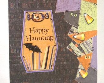 Halloween Card, Happy Haunting, Clearance