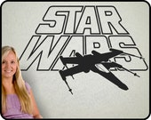 Star Wars wall decal with X-Wing Fighter - large vinyl Star Wars art