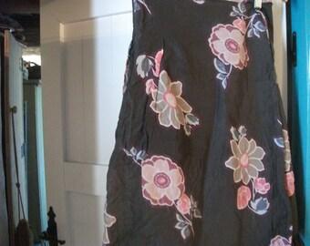 "s.a.le.- PURE COTTON SKIRT,  floral, wrap around, 32"" waist"