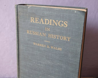 vintage Readings in Russian History book, 1950, USSR book, antique book, antique history book