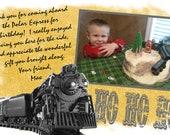 Items Similar To Diy Printable Polar Express Birthday