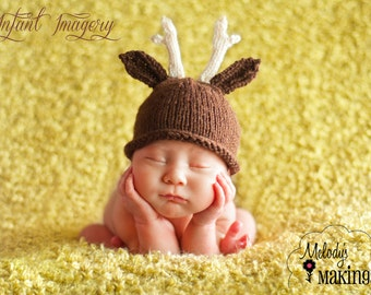 Antler Hat Knitting Pattern - Deer Hat Pattern - Antlers Hat Pattern - Kid Hat Knitting Pattern - Animal Hat Pattern - Baby Knitting Pattern