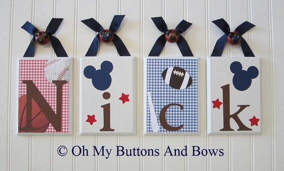 Baby Name Decor Hanging Name Letters Kidsline Vintage