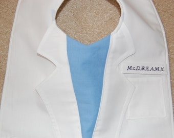 Lab Coat Grey's Anatomy Bib--The Intern