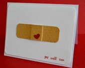 Get Well Card Bandaid, Blank