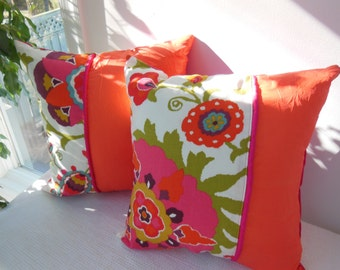 Decorative Pillows - Customize Your Own Pillowscape Design Pillow - You Select The Fabrics To Match Your Home Decor