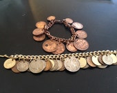 Pair of Vintage Coin Charm Bracelets