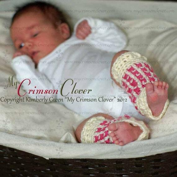 """Crochet Pattern Baby Leg Warmers """"Cross My Heart Leg Warmers"""""""