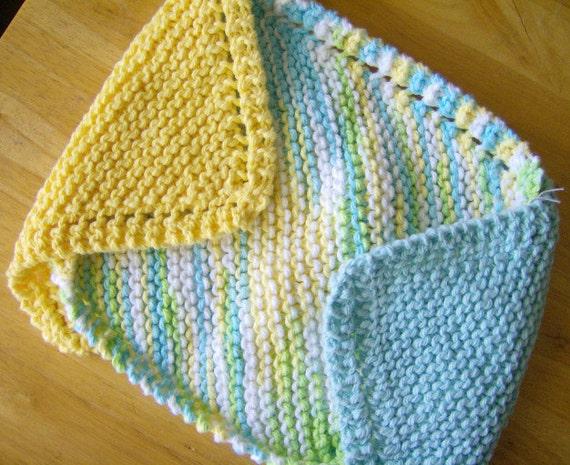 100% Cotton Handmade Knit Dishcloths Set