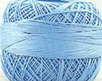 Lizbeth Crochet Tatting Thread Size 20 Blue Med 651