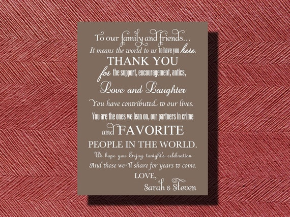 Thank You Letter For Wedding Guests: Wedding Day Thank You Note To Guests Thank You Card For Your