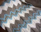 Crocheted Baby Boy Blanket