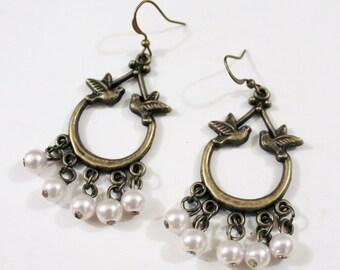Chandelier earrings, dangle earrings, crystal earrings, Swarovski crystals chandelier earrings