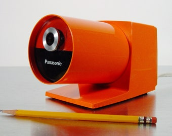 Panasonic Electric Pencil Sharpener KP-22A Orange, 1970s.