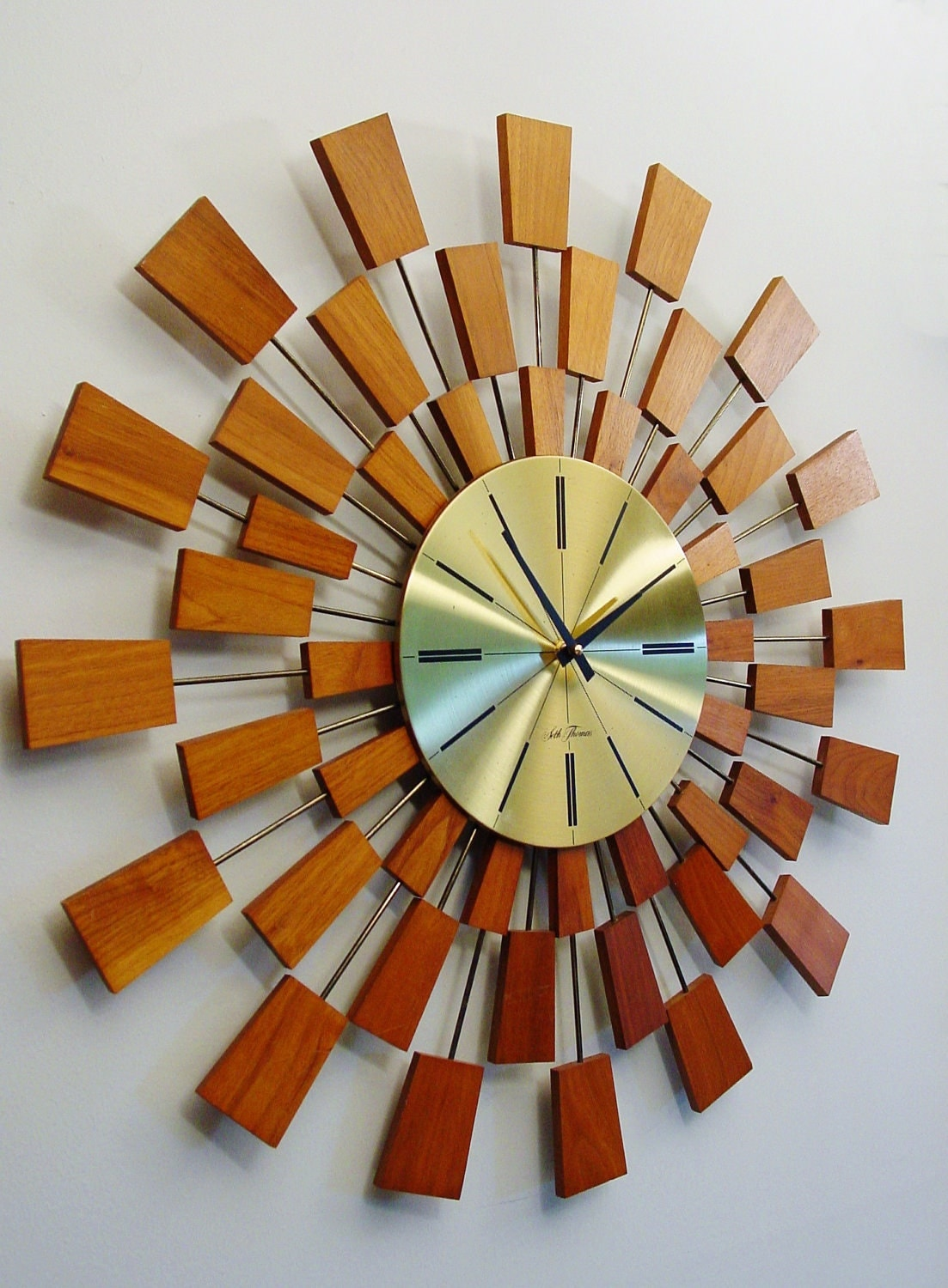 On Hold For D And S Midcentury Modern Starburst Clock By