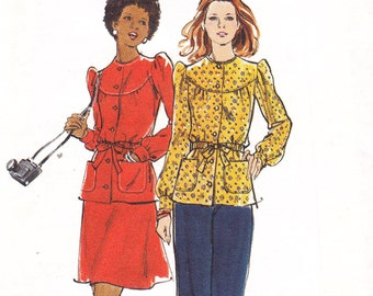 Butterick 3338 Size 13/14 bust 33 1/2 young junior teen top skirt and pants sewing pattern uncut