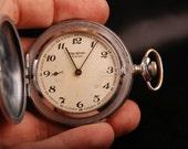Rare Vintage Soviet Molnija MARATHON Pocket Watch 18 Jew - Capercaillie - USSR