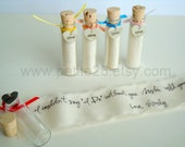 Set of FIVE (5) Secret message in a bottle - Will you be my bridesmaid