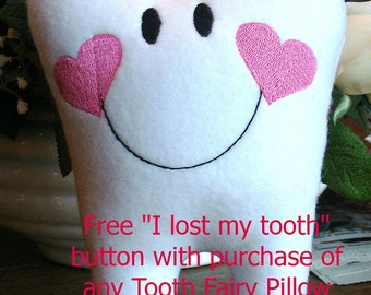 Tooth Fairy Pillow, Personalized Tooth Fairy Pillow