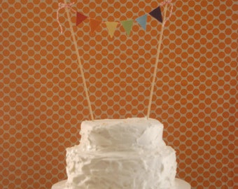 Rainbow Bunting Cake Topper, Rainbow Cake Topper