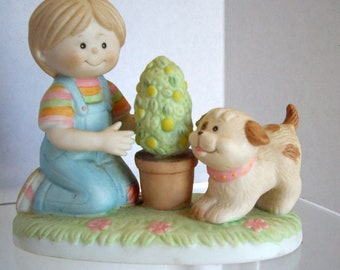 Vintage porcelain figurine Jennifer and Josh Wallace Berrie 1978