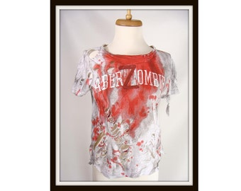 aberZombie Bloody Zombie T-Shirt Halloween Costume Girls Large Women's Small or xs