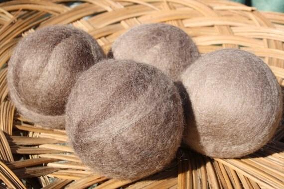 Wool Dryer Balls - Beach Sand Swirl  - Set of Four