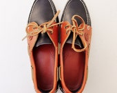 Vintage Leather Dooney & Bourke Deck Shoes - womens size 8.5