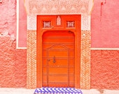 Morocco fine art print, Morocco photography, Morocco door print, pink - Inside the Pink City