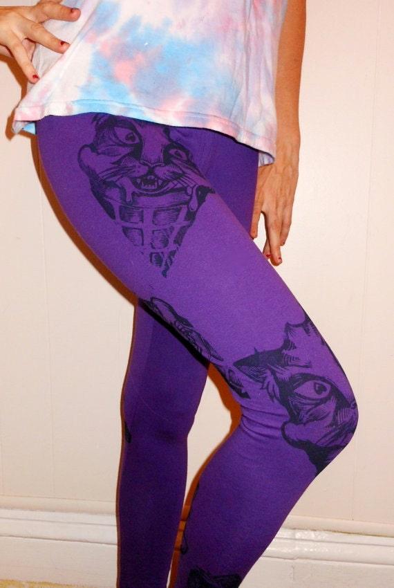 Purple KITTY CONE leggings