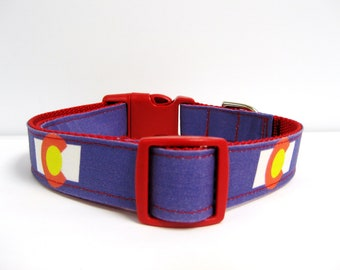 Colorado Dog Collar, Colorado Flag Collar, Colorado Flag Dog Collar, Colorado Collar, Colorado Dog (Leash Available)