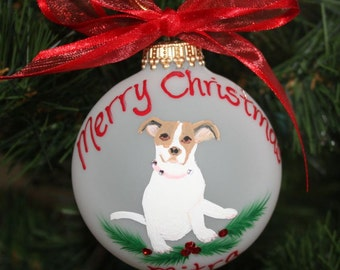 Custom Pet Portrait Ornament - Handpainted personalized and made to Order